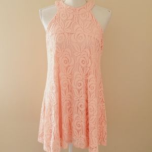 Altar'd State coral lace swing dress size small